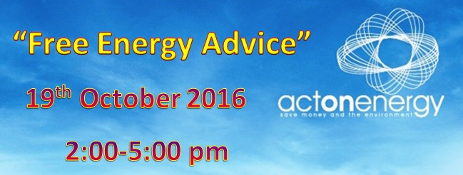 Energy Advice springhill medical centre 19 october 2-5pm