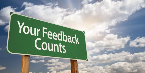 bilboard sign that says your feedback counts