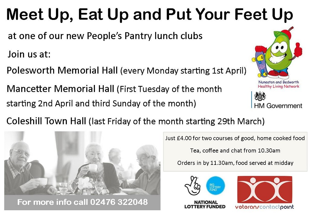 People's Pantry lunch clubs